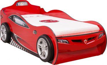 Cilek COUPE Autobett Kinderbett Bett Ausziehbett Rennfahrerbett Rot – Bild 2