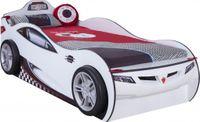Cilek COUPE Autobett Kinderbett Bett Ausziehbett Rennfahrerbett Weiß