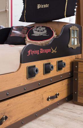 Cilek PIRATE S Bett Kinderbett Piratenbett Schiff Braun 90x190 cm – Bild 4