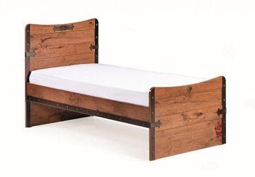 Cilek PIRATE M Bett Kinderbett Kinderzimmer Braun 100x200 cm