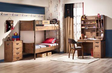Cilek PIRATE 4 Kinderzimmer Set Komplettset Kinder Spielzimmer Piraten Braun