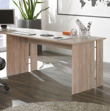 Omega Schreibtisch 150 cm Arbeitstisch Eiche Sonoma Tisch