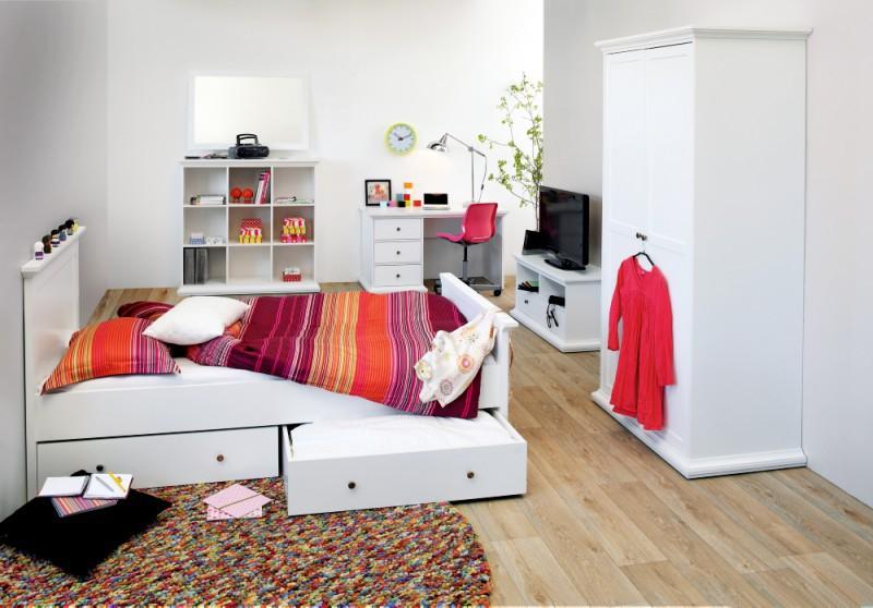 Tvilum Paris Schlafzimmer Kinderzimmer komplett 7teilig Komplettsystem Weiß