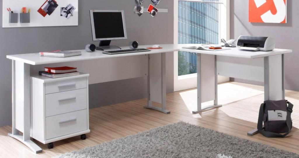 komplettb ro office line komplettset homeoffice wei ebay. Black Bedroom Furniture Sets. Home Design Ideas