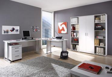 Komplettbüro OFFICE LINE Komplettset Homeoffice Weiß – Bild 1