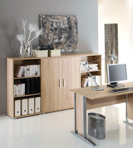 office line 3 tlg highboard schrank komplettset homeoffice. Black Bedroom Furniture Sets. Home Design Ideas