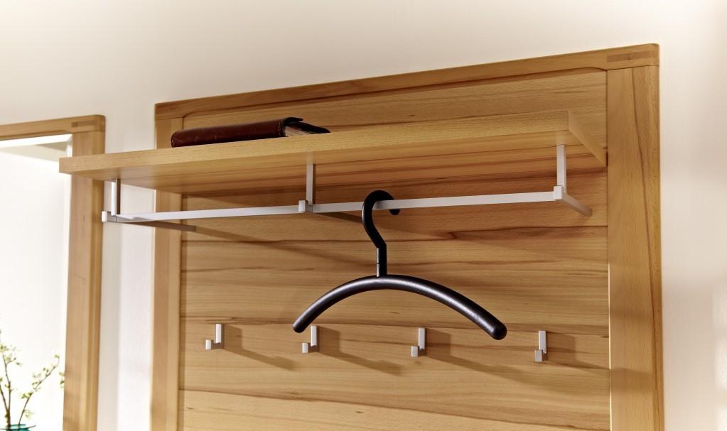 woodtree garderobenpaneel wandpaneel paneel kernbuche diele flur paneel kleiderhaken. Black Bedroom Furniture Sets. Home Design Ideas