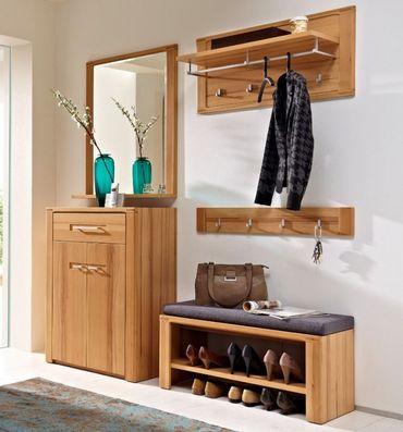5 tlg WOODTREE Garderoben-Kombination Garderobe Garderobenschrank Garderobenset – Bild 1