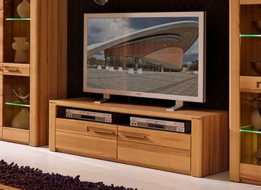 WOODTREE TV Möbel Lowboard Sideboard Anrichte Kernbuche – Bild 1