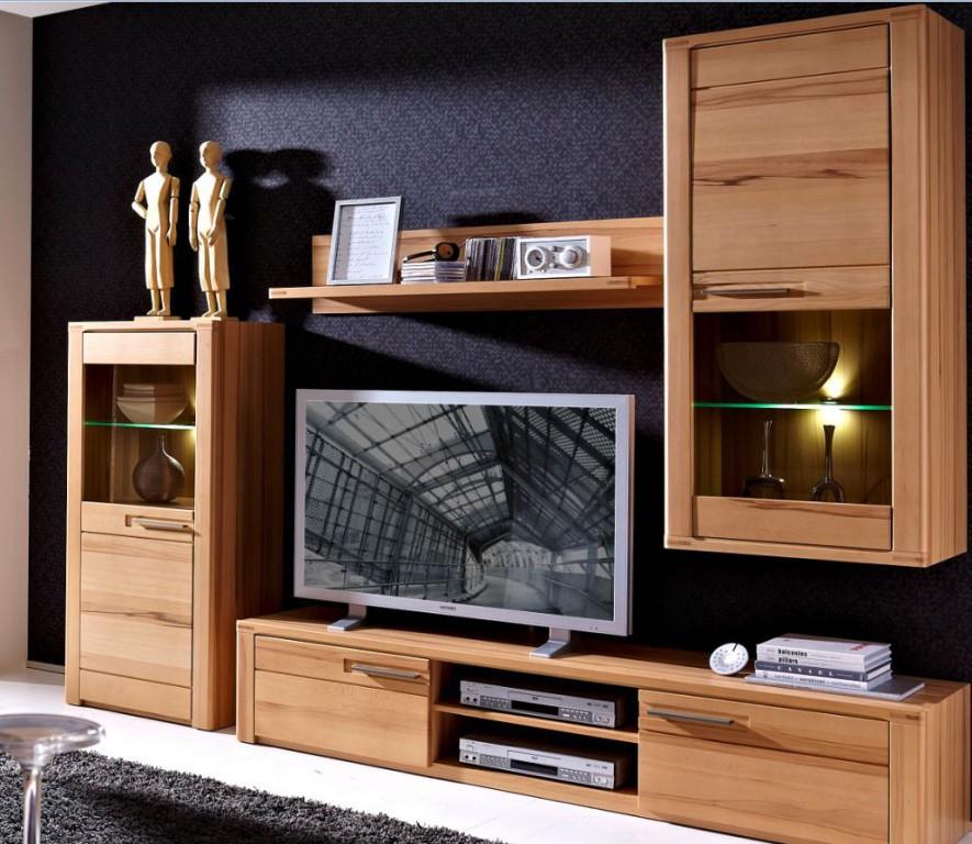 woodtree wohnkombination tv kombination wohnwand wohnzimmer set sch ner wohnen wohnw nde. Black Bedroom Furniture Sets. Home Design Ideas