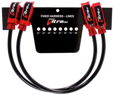 MUF Maui Ultra Fins Trapeztampen Harness lines fixed