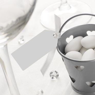 Schildchen weiß oder elfenbein 10 Stück