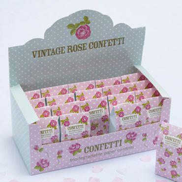 """Konfetti Herzen Papier """"Vintage Rose"""" weiß/rosa"""