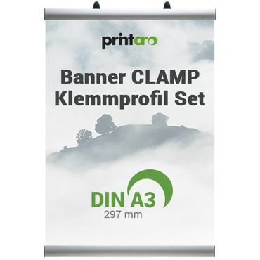 Banner CLAMP Klemmschienen Set DIN A3 / 297 mm – Bild 1
