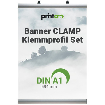 Banner CLAMP Klemmschienen Set DIN A1 / 594 mm – Bild 1