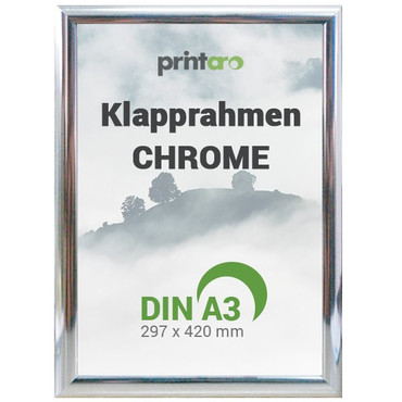 Alu-Klapprahmen in Chrome | DIN A3 – Bild 1