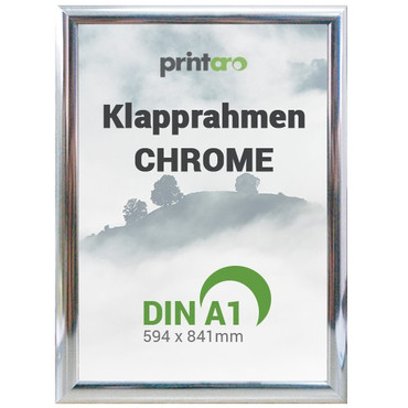 Alu-Klapprahmen in Chrome | DIN A1 – Bild 1