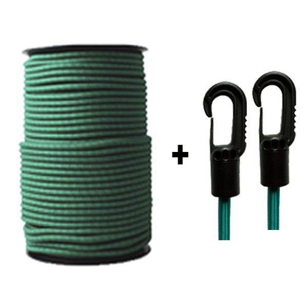 10 m Monoflex Gummiseil ø 8mm grün,Expanderseile