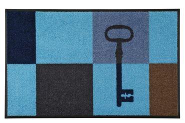 wash+dry Key Squares blue 50 x 75 cm