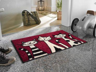 wash+dry Fußmatte Three Cats 50 x 75 cm WMK