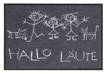 Salonloewe Fußmatte Hallo Läute 50 x 75 cm waschbarer witziger Türvorleger – Bild 1