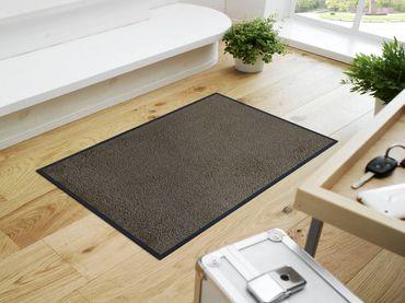 wash+dry Fußmatte Taupe - beigegrau – Bild 1