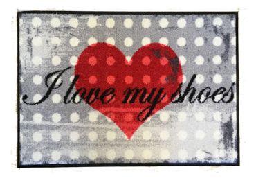 Salonloewe Fußmatte I love my shoes 50 x 75 cm waschbare Fußmatte  – Bild 1