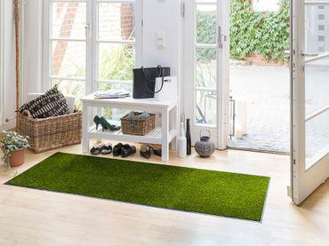 Waschbare Fußmatte 60 x 180 cm einfarbig Salonloewe – Bild 1