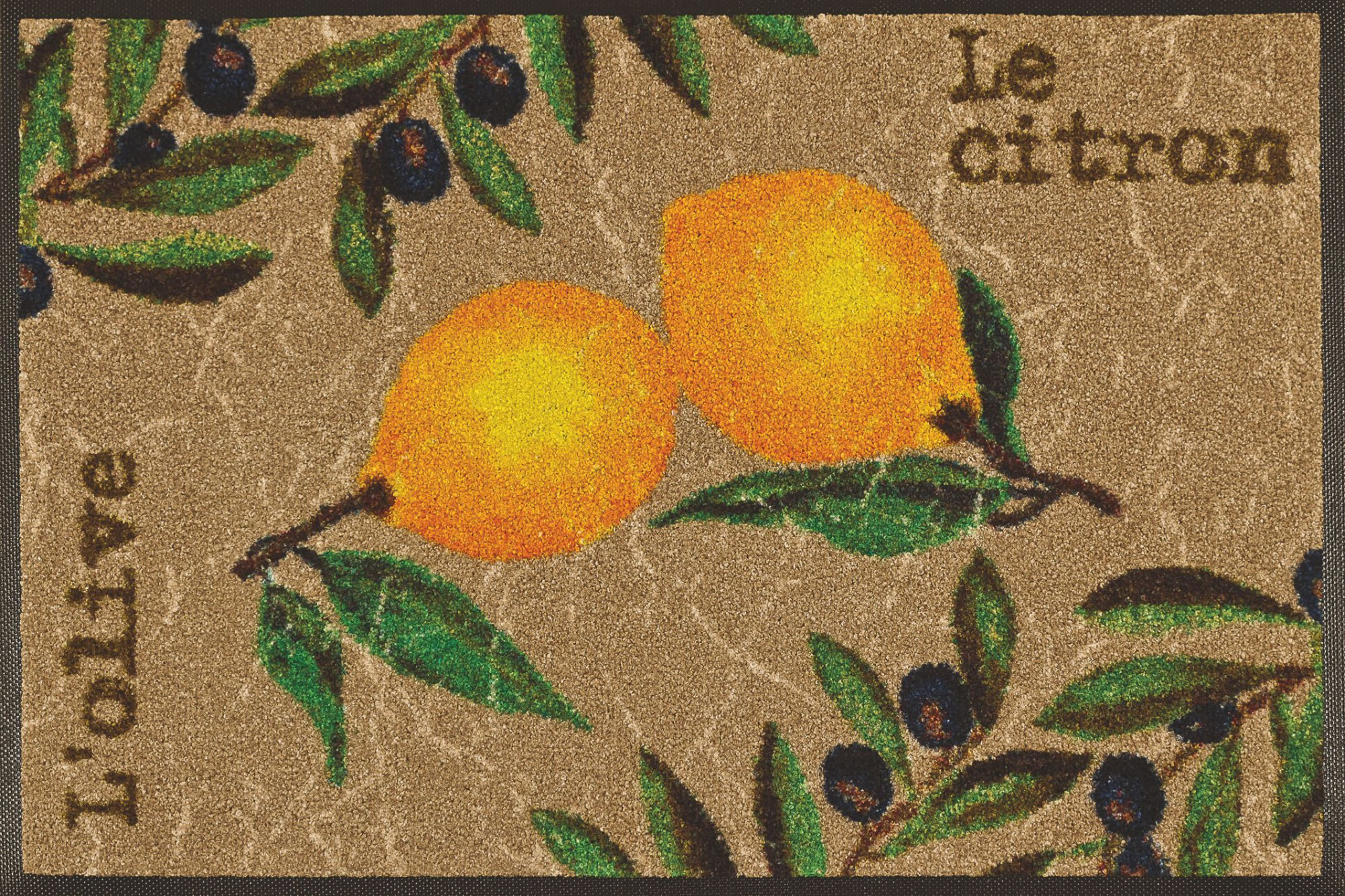 wash dry k chenteppich le citron waschbar robust trocknergeeignet. Black Bedroom Furniture Sets. Home Design Ideas