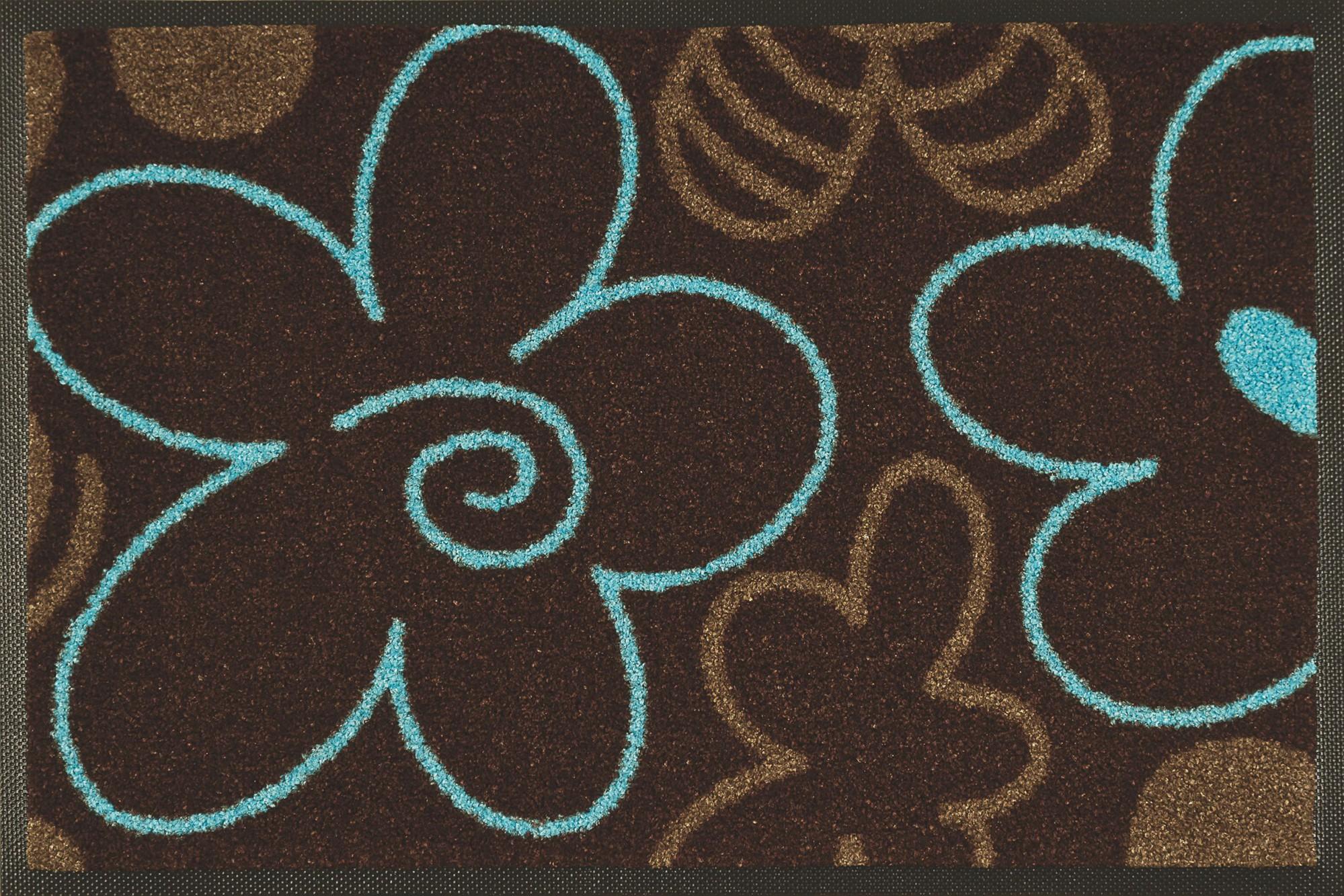wash dry amazone valentine waschbare fu matte blumenmotiv. Black Bedroom Furniture Sets. Home Design Ideas