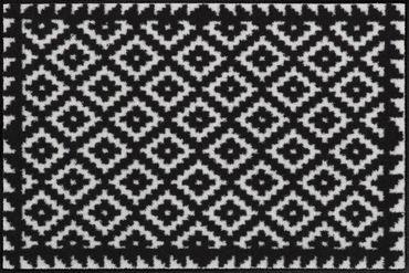 Tabuk Black & White waschbare Fußmatte Salonloewe – Bild 1