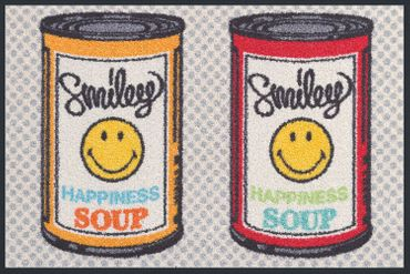 wash+dry Küchenteppich Smiley Happiness Soup waschbar trocknergeeignet
