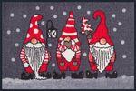 Winterzwerge waschbare Fußmatte wash+dry Weihnachtszwerge Wintermatte  001