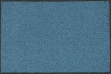 wash+dry Trend Colour Steel blue waschbare Fußmatte stahlblau