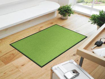 wash+dry Trend-Colour Apple Green waschbare Fußmatte apfelgrün – Bild 1