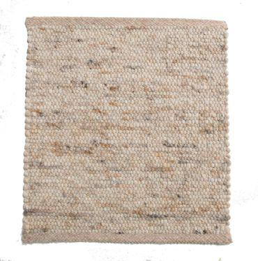 Tisca Handwebteppich Olbia Uni Col. 1232 aus Schurwolle