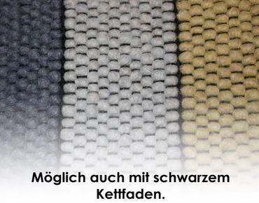 Tisca Handwebteppich Olbia Uni Col. 1801 aus Schurwolle – Bild 3