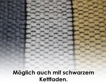 Tisca Handwebteppich Olbia Uni Col. 3610 aus Schurwolle – Bild 3