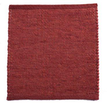 Tisca Handwebteppich Olbia Uni Col. 3610 aus Schurwolle – Bild 1
