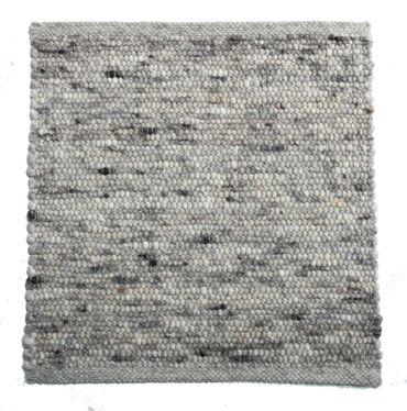 Tisca Handwebteppich Olbia Uni Col. 1802 aus Schurwolle