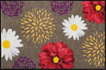 Salonloewe Fußmatte Alexa 50 x 75 cm waschbare Fußmatte Salonloewe Blumenmotiv