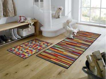 Mikado Stripes waschbare Fußmatte wash+dry