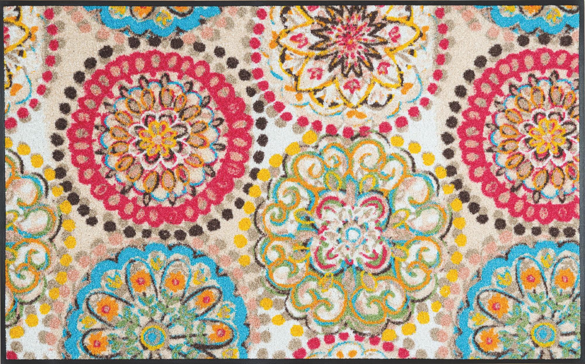 wash dry fu matte vintage fresko waschbar schmutzmatte blumenmotiv. Black Bedroom Furniture Sets. Home Design Ideas