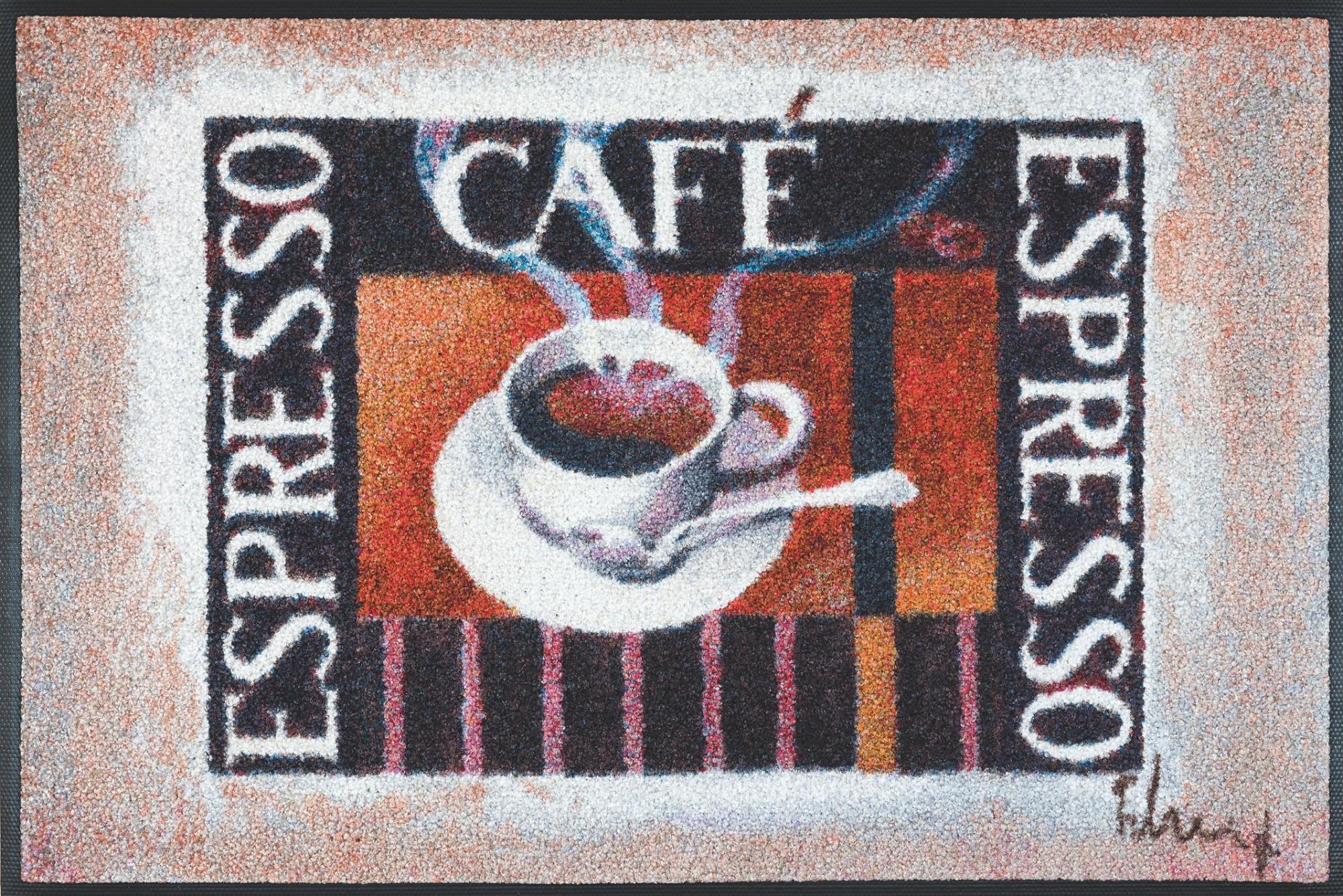 wash dry k chenteppich espresso break franz heigl 50 x 75 cm waschbar. Black Bedroom Furniture Sets. Home Design Ideas
