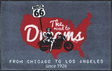 The Road to Dreams Route 66 50 x 75 cm waschbare Fußmatte wash+dry – Bild 2