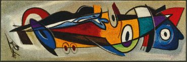 positive flow I 60 x 180 cm Alfred Gockel waschbare Fußmatte