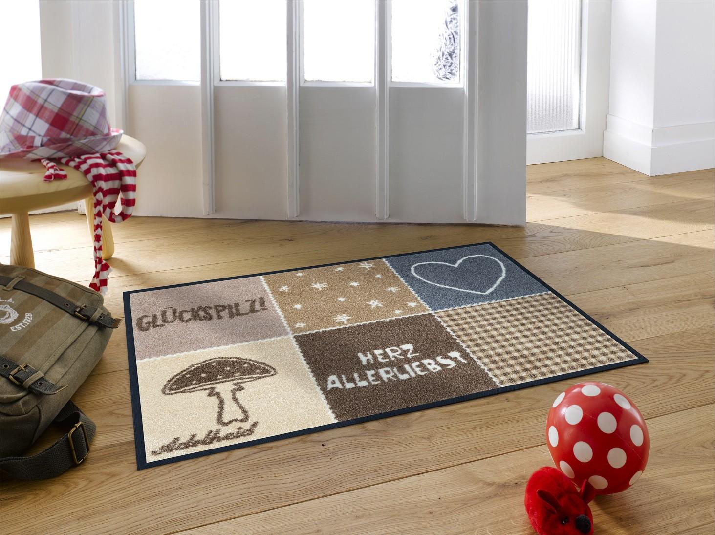 wash dry fu matte herzallerliebst adelheid waschbare fu matte. Black Bedroom Furniture Sets. Home Design Ideas