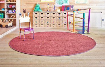 Tisca Rundteppich Olbia - Handwebteppich aus Schurwolle - Maßanfertigung