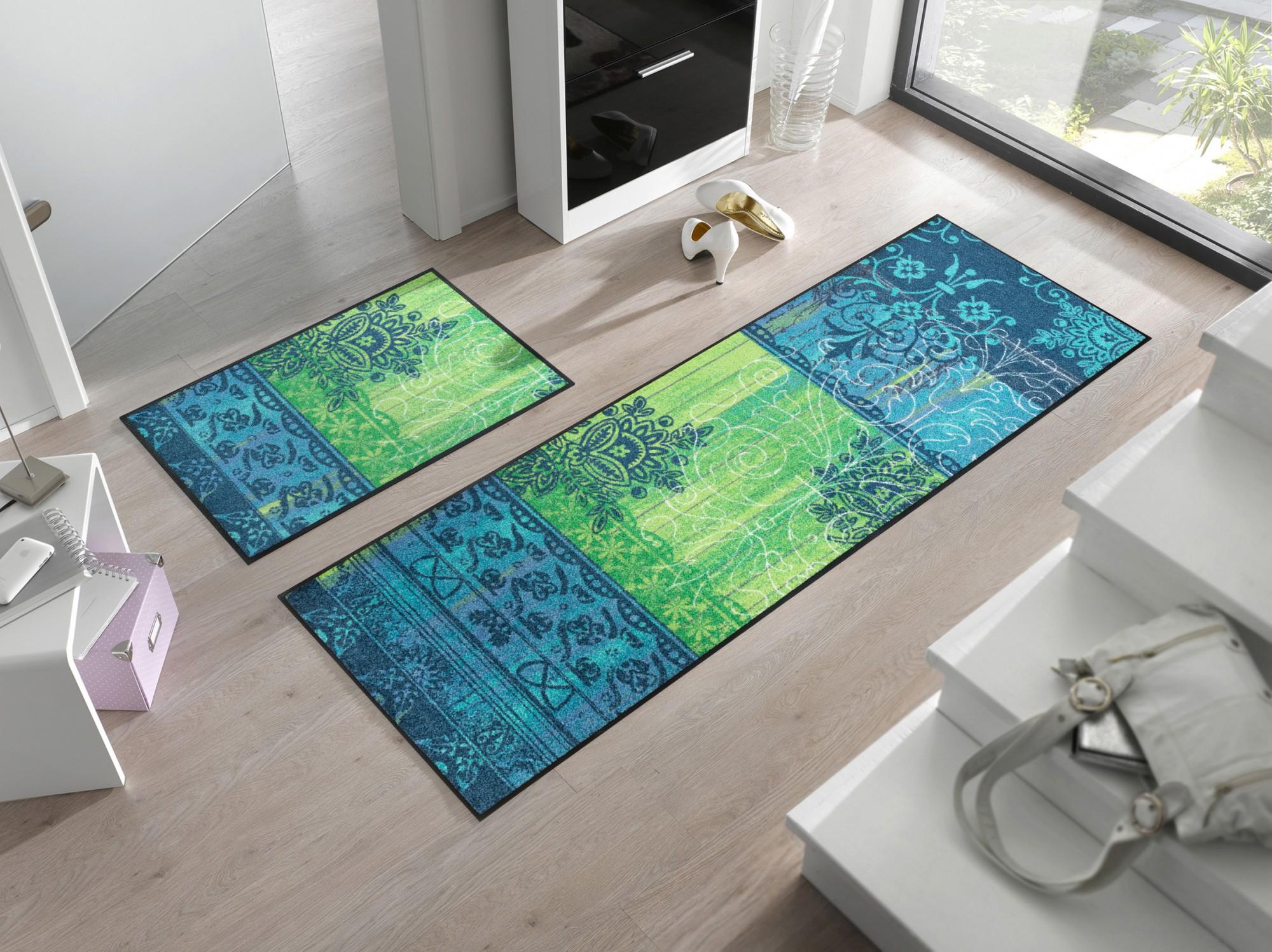 wash dry fu matte borda green waschbare fu matte. Black Bedroom Furniture Sets. Home Design Ideas