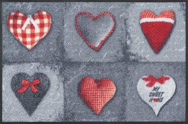 wash+dry Fußmatte My Sweet Home grey waschbare Fußmatte